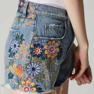Blank NYC The Barrow Embroidered Shorts